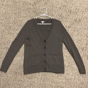 Sonoma brown sweater/button up cardigan